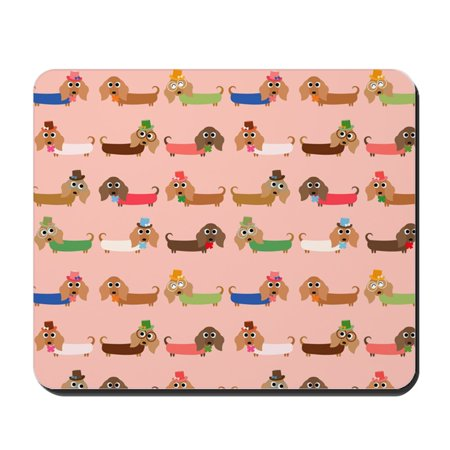 CafePress - Delightful Dachshunds - Non-slip Rubber Mousepad, Gaming Mouse (Dachshund Mouse Pad)