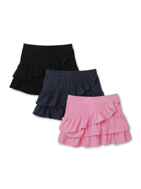 Garanimals Baby Girl & Toddler Girl Ruffled Skorts, 3-pack (12 Months, 18 Months, 2T)