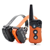 iPets PET619S-2 Dog Training Collar Upgraded Version Remote Dog Shock Collar Rechargeable & Waterproof  with Beep Vibrating Electric Shock Collar for All Size Dogs (10-100lbs)