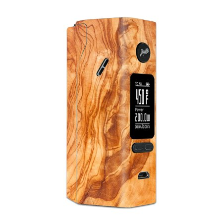 Skin Decal For Wismec Reuleaux Rx 2/3 Vape Mod / Marble Wood Design Cherry Mahogany