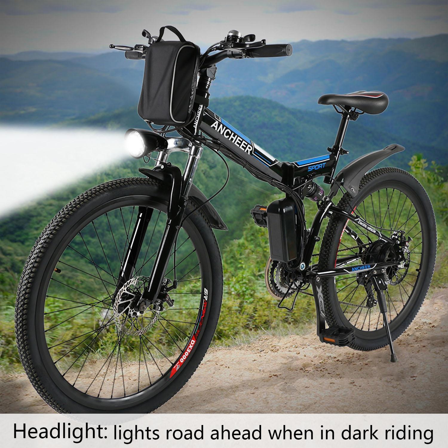 "Clearance!26"" Folding 21 Speed Electric Mountain Bike Electric Power Bicycle with 36V Lithium-Ion Battery  LEO"