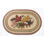 Earth Rugs Autumn Leaves Printed Area Rug