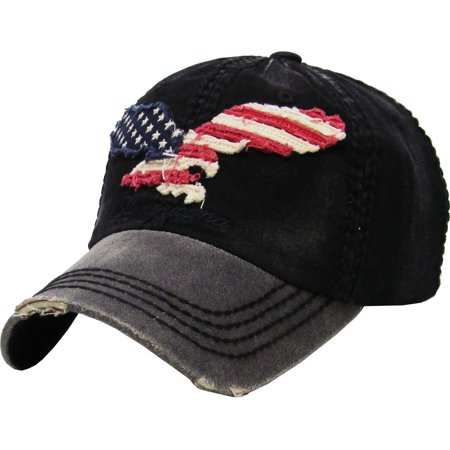 Eagle Flag American Vintage Distressed Baseball Cap Dad (American Hat)