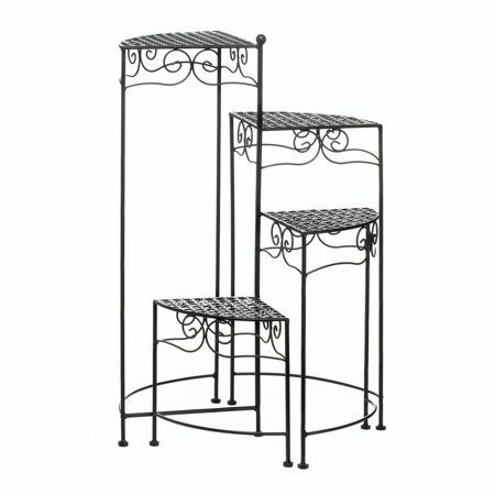 4 Tier Plant Stand, Black Iron Tall Plant Stands Indoor Tall Iron Stand