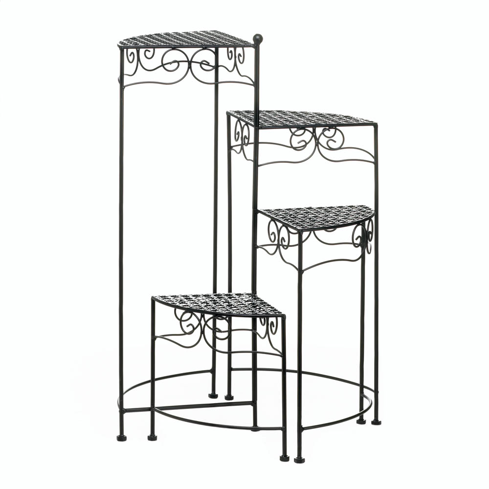 4 Tier Plant Stand, Black Iron Tall Plant Stands Indoor