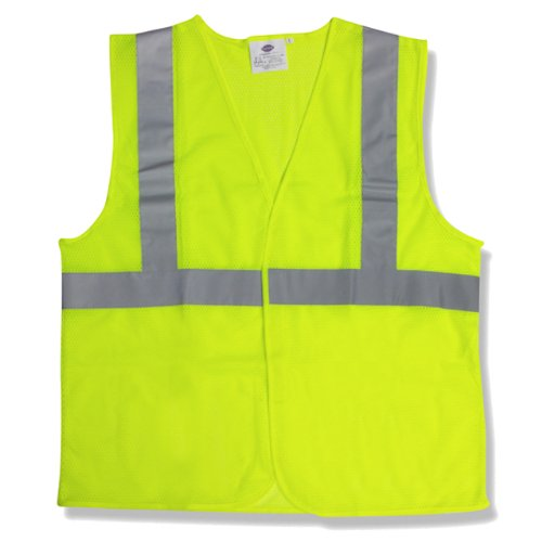 Ergodyne Glowear 8210hl Class 2 Economy Vest, Polyester Mesh, Hook Closure, Lime, L/xl
