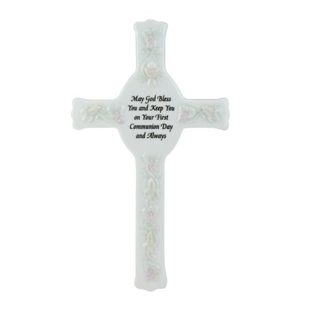 First Holy Communion Porcelain - First Holy Communion Porcelain Wall Cross 8.75