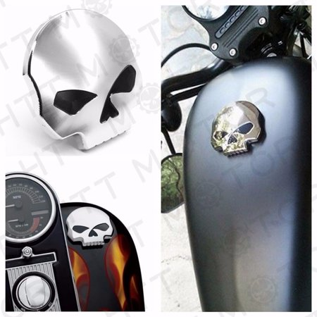 Htt Motor Motorcycle Skull Fuel Gas Tank Cap Cover For Harley Dyna Softail Sportster 84 15