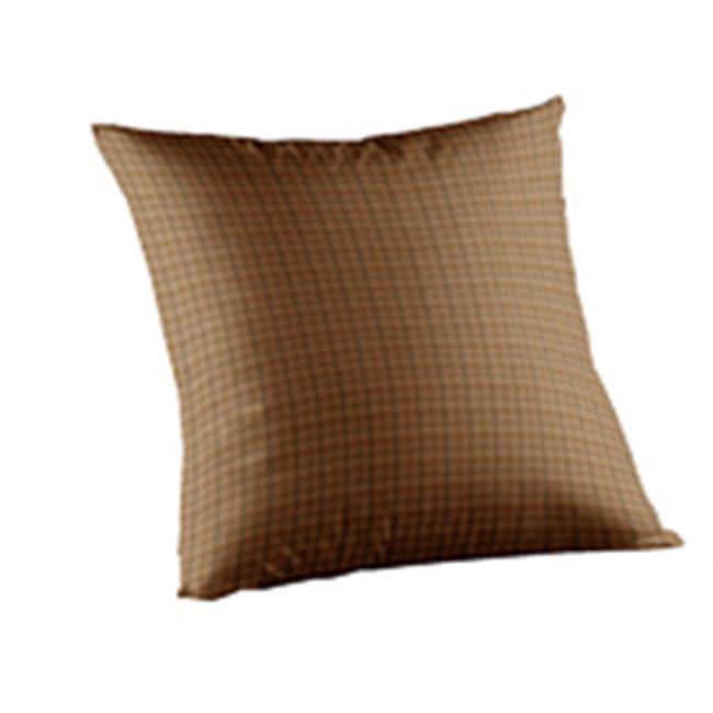 Patch Magic TPW322A Brown Light Checks, Fabric Toss Pillow 16 x 16 inch