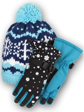 Cold Front Accessories The Nikki Knit Beanie and the Glinda Technical Snowboard Gloves Bundle