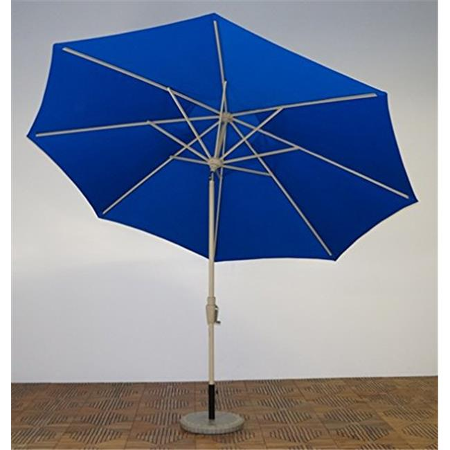 Shade Trends UM11-MA-102 11 ft. x 8 Premium Market Umbrella,Maple Frame,Pacific Blue Canopy
