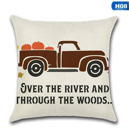 KABOER 1Pcs Thanksgiving Halloween Pumpkin Theme  Pillow Case Cushion Cover Home Decor Design