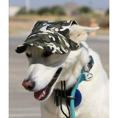 Pet Dog Camo Tank Top (Dog Outdoor PET Hat ♦ Adjustable Authentic Colors (Medium, Navy Blue Print), Original Baseball hat for your dog! By LoveWally)