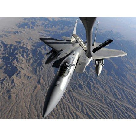 U.S. Air Force F-15 Eagle Flies Toward the Boom of a KC-135 Stratotanker Print Wall Art Air Force Kc 135