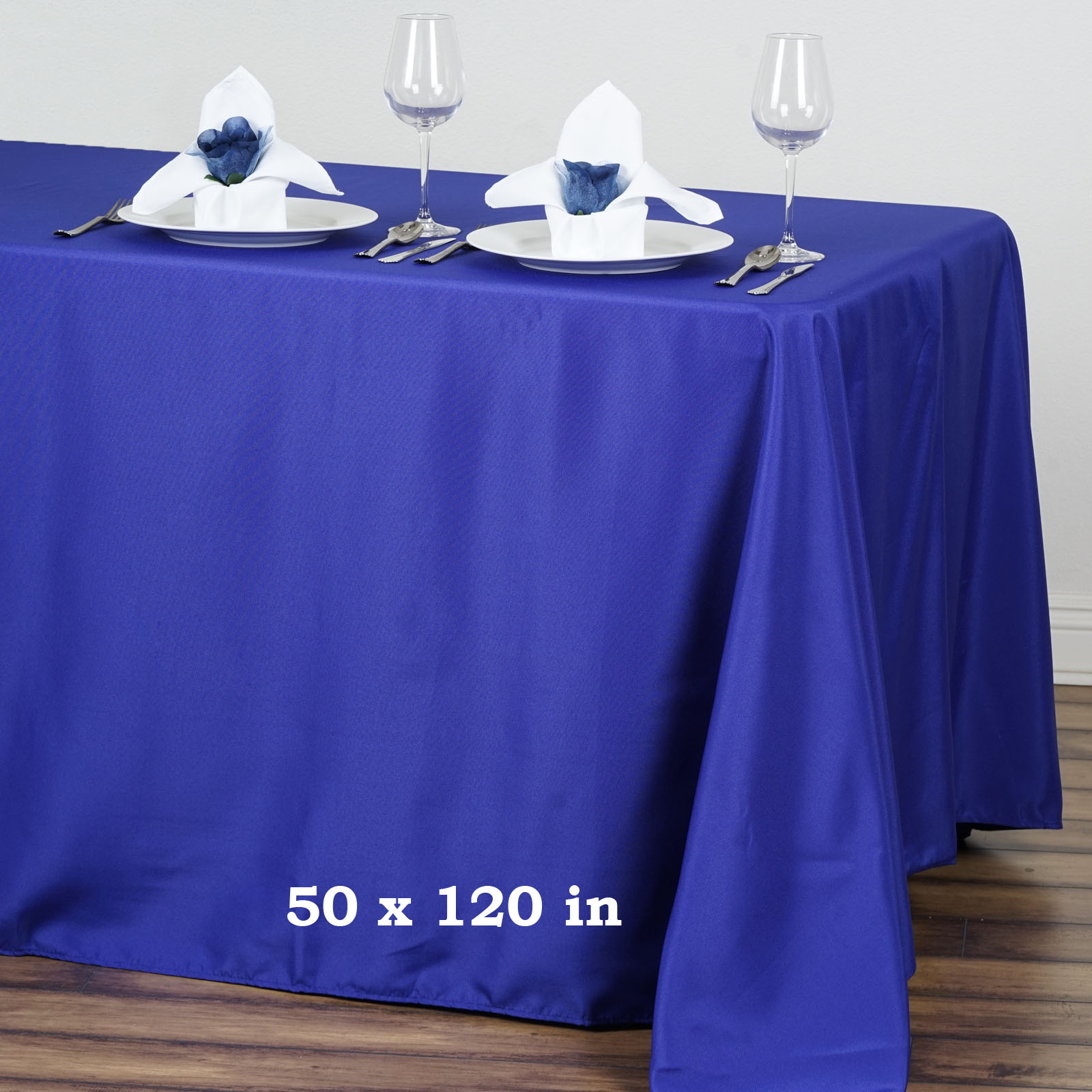 "BalsaCircle 50"" x 120"" Polyester Rectangular Tablecloth Wedding Table Linens by"