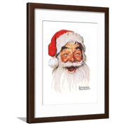 Santa Claus Framed Print Wall Art By Norman Rockwell