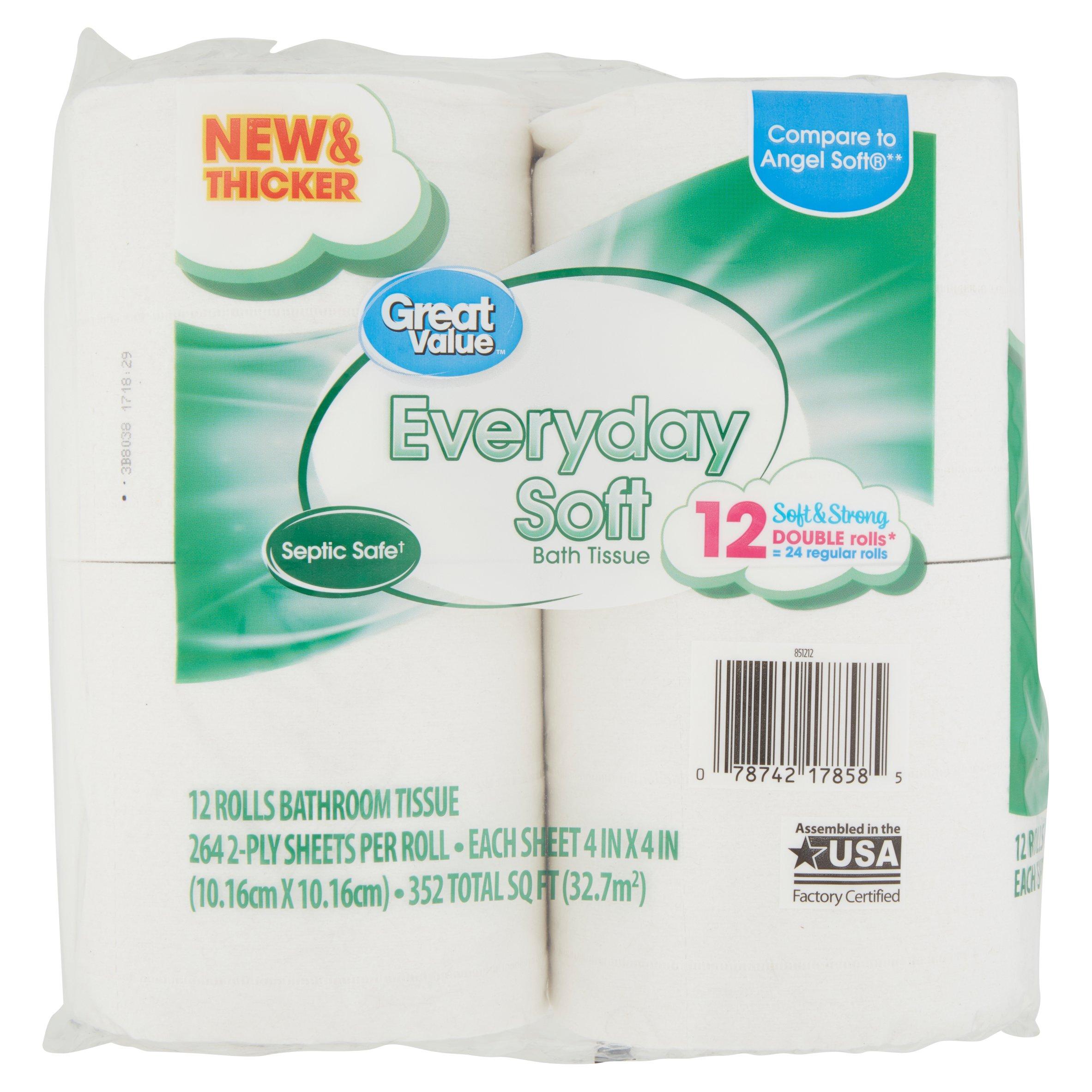 White cloud bathroom tissue - Great Value Bathroom Tissue Everyday Soft 12 Double Rolls Walmart Com