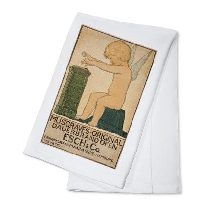 Musgraves - Original Dauerbrand ofen Esch & Co Vintage Poster Germany c. 1905 (100% Cotton Kitchen Towel)