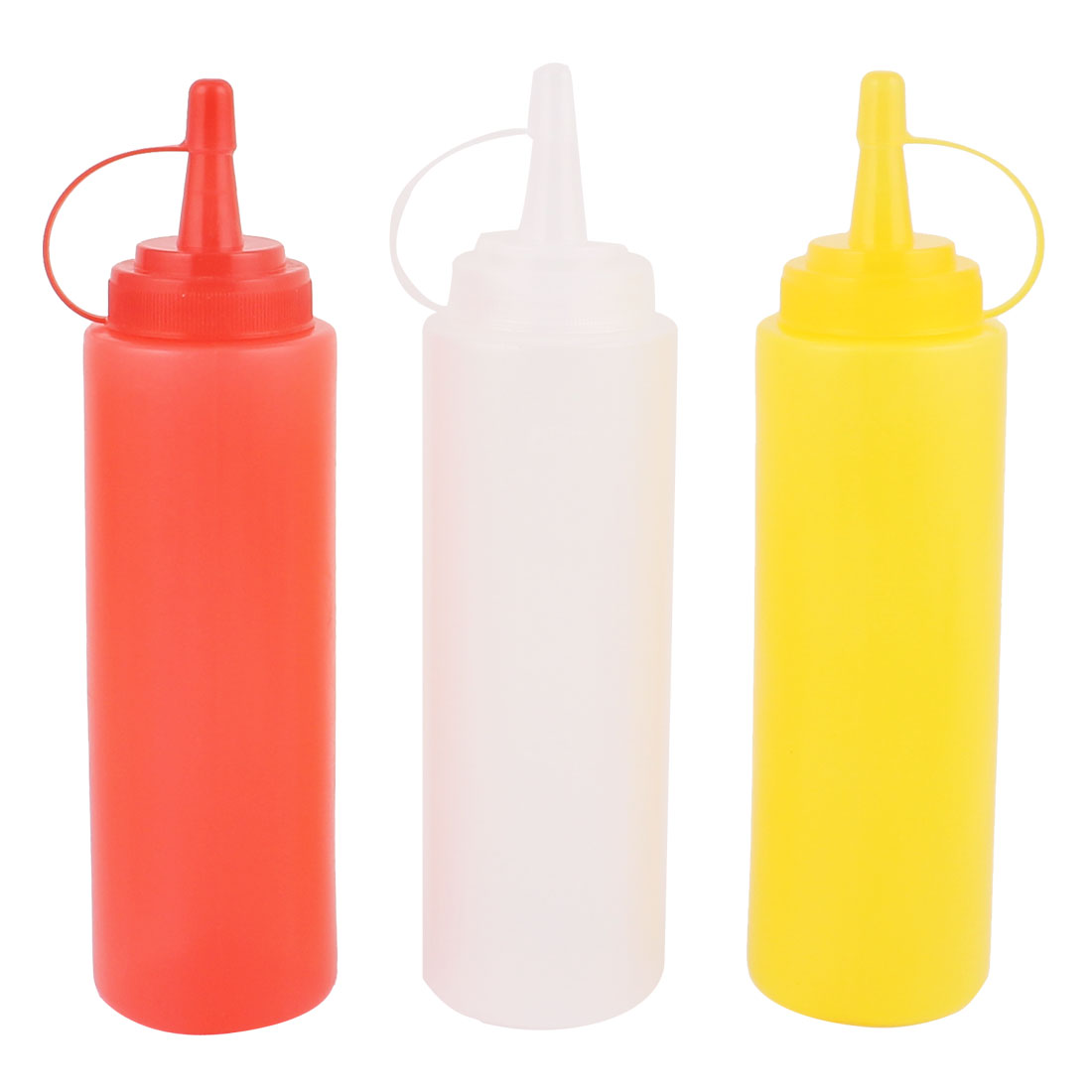 3 Pcs 200ml Oil Sauce Ketchup Squeeze Dispensing Bottle For Kitchen