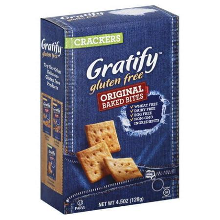 Gratify Original Baked Bites Crackers, 4.5 Oz (Pack of 12 ...