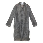 Size Large Mens Vinyl Collared Raincoat, Grey