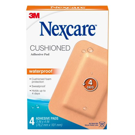 Nexcare Absolute Waterproof Adhesive Pad, 3 in x 4