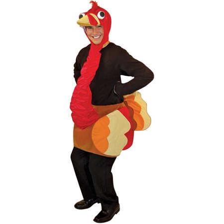 Turkey Adult Halloween Costume - One Size (Baby Turkey Halloween Costume)