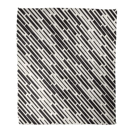 Surprising Sidonku Throw Blanket Warm Cozy Print Flannel Black And White Irregular Dash Rectangles Grid Pattern Monochrome Abstract Comfortable Soft For Bed Sofa Gmtry Best Dining Table And Chair Ideas Images Gmtryco