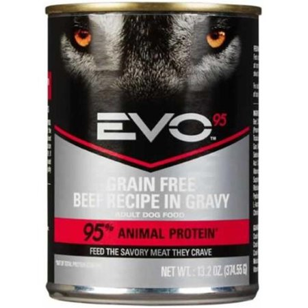 Image of EVO 95 Grain-Free Beef in Gravy Wet Dog Food, 13.2 oz