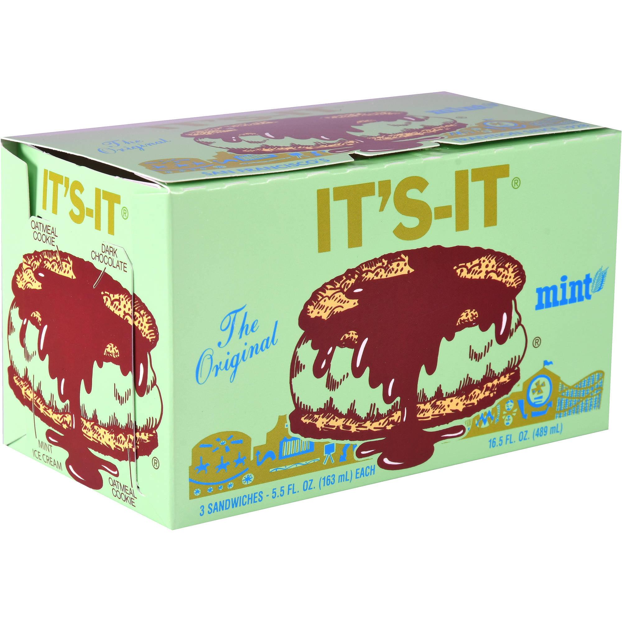It's-It Mint, 3 sandwiches