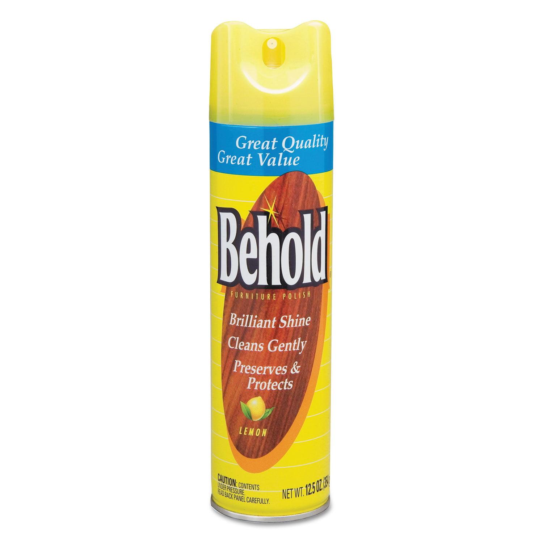 Behold Furniture Polish, Lemon, 6/Carton