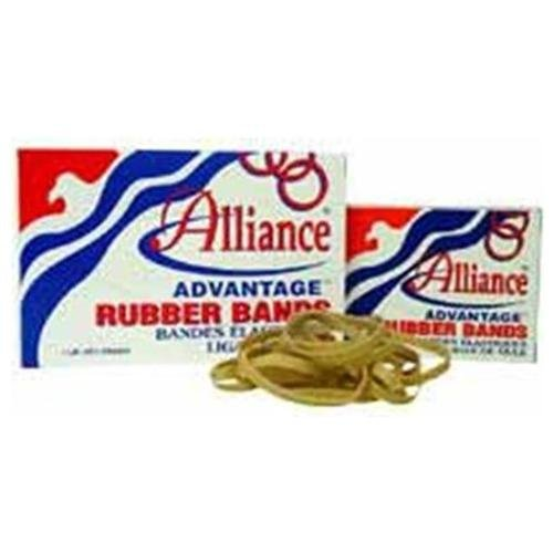 """Alliance Rubber Advantage Rubber Bands - Size: #84 - 3.50"""" Length X 0.50"""" Width - Biodegradable - 1 Box - Natural (ALL26845)"""