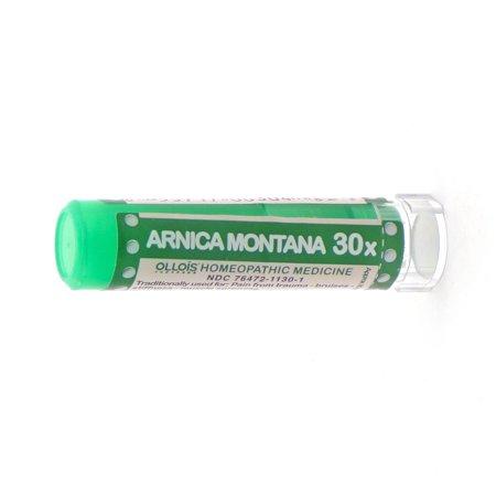 Ollois Arnica 30X Pellets, soulagement de la douleur générale, 80 Ct