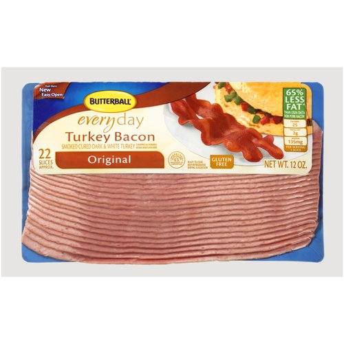 Butterball Everyday Original Turkey Bacon, 12 oz