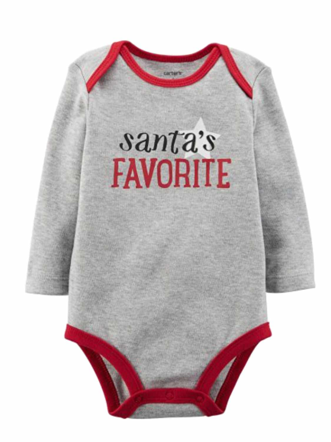 Carter/'s Baby Santa/'s Little Helper Grey Christmas Outfit Multi Sizes Unisex NWT