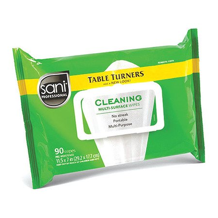 SANI PROFESSIONAL Food Service Wipes,White,Fresh,PK12 A580FW