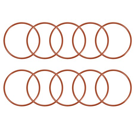 Silicone O-Ring 68mmx61 8mmx3 1mm VMQ Seal Rings Sealing Gasket Red 10PCS