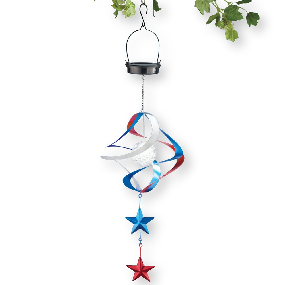 Hanging Solar Patriotic Spiral Wind Spinner by Collections Etc