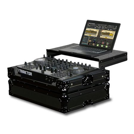 Odyssey FZGSTKS4BL Glide Style Case for Traktor Kontrol S4/Mixtrack Pro & VMS (Ksport Kontrol Pro Damper)