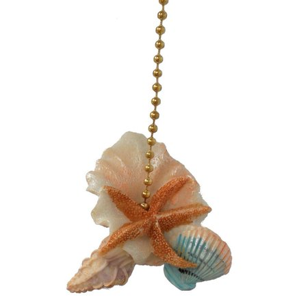 - Starfish Seashells Sea Shell Beach Fan Light Pull, Approximately 2 inches By Clementine