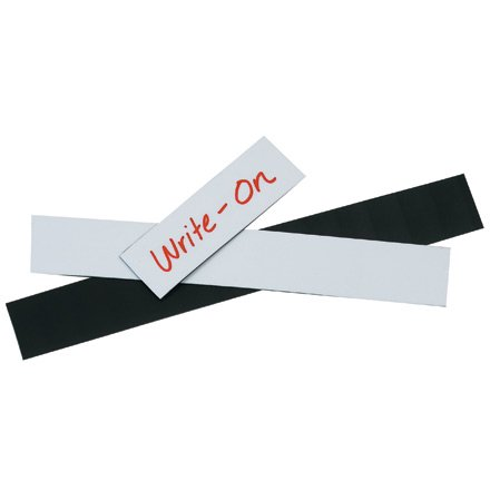LH170 White 1 Inch x 2 Inch Warehouse Labels Magnetic Strips CASE OF 25