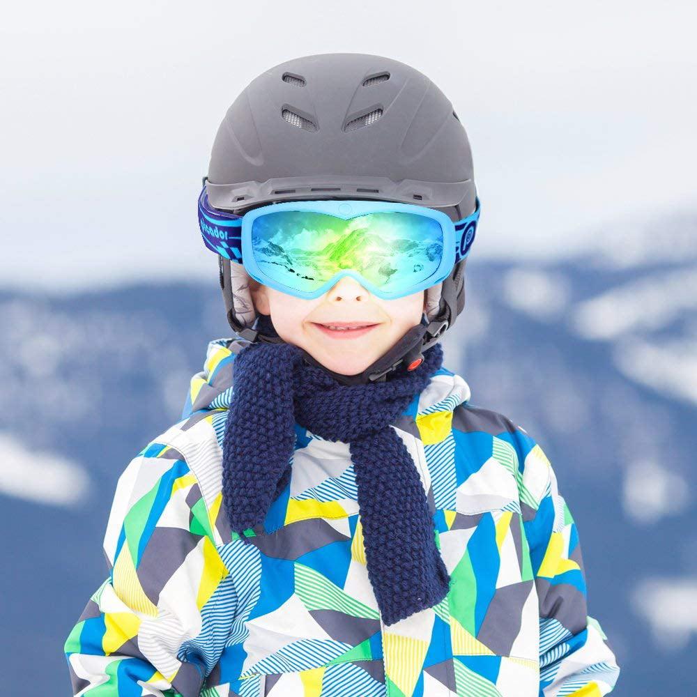 PICADOR Ski Goggles Over The Glasses Anti-Fog UV400 Protection Lens Youth Kids - image 7 de 8