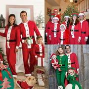 Family Match Adult Women Kids Baby Xmas Santa Claus Pajamas Pyjamas Nightwear