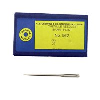 C.S. Osborne Pack Of 25 Sharp Point Chenille Needles #562 Size 13 To 26 size 16