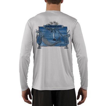 Island Lifestyle Jammin Men's UPF 50+ UV Sun Protection Long Sleeve T-shirt Small Pearl (50 Long Sleeve Tee)
