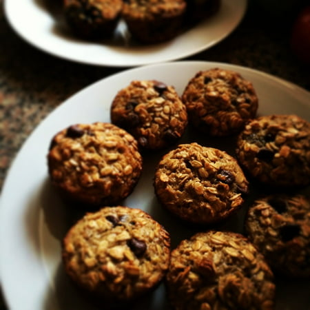 Breakfast Muffins (Canvas Print Tasty Cakes Healthy Muffins Breakfast Oatmeal Stretched Canvas 10 x 14)