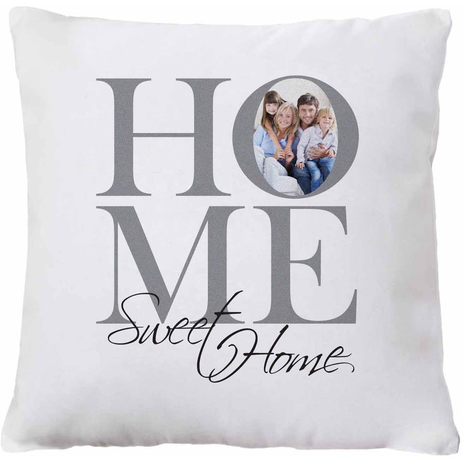 Personalized Sweet Home Family Photo Pillow