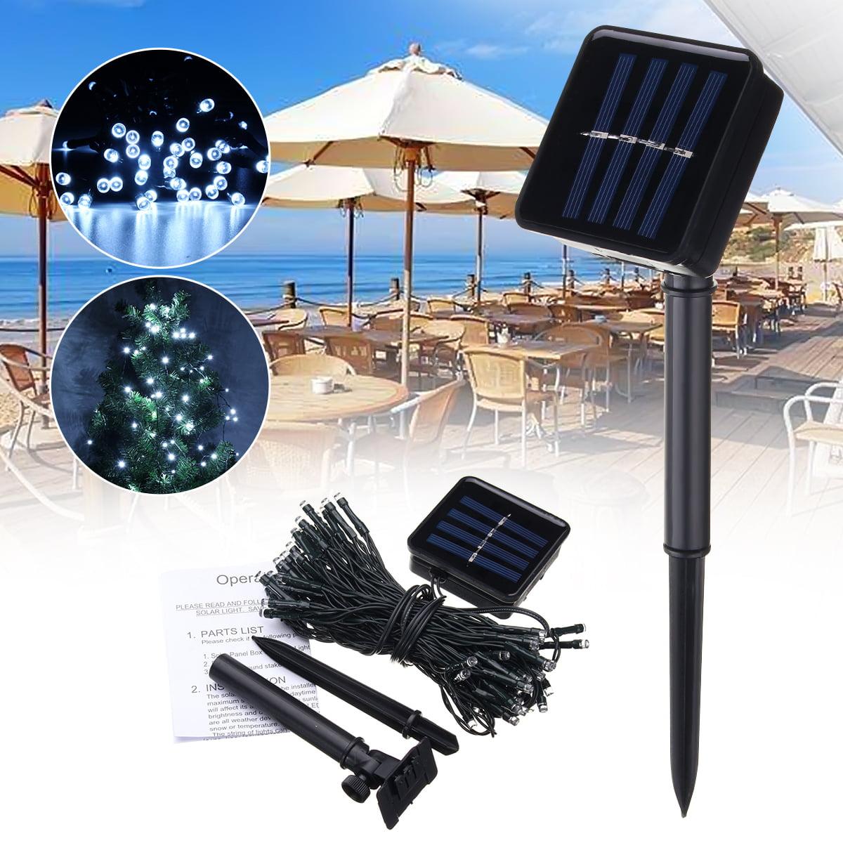 62 3ft Outdoor Solar Patio Umbrella String Lights  Solar