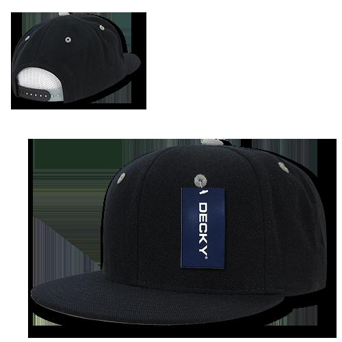a753d447 DECKY Acrylic Contrasting Accent Snapbacks Baseball Hats Hat Caps Cap For Men  Women Black/Royal - Walmart.com