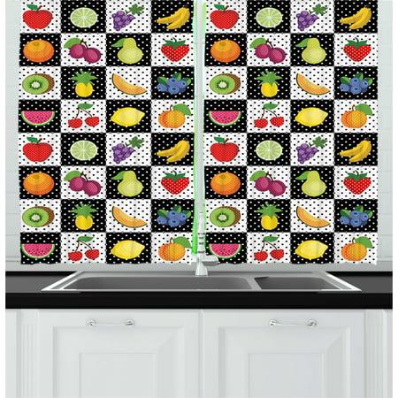 Black White Kitchen Curtains 2 Custom Inspiration Ideas